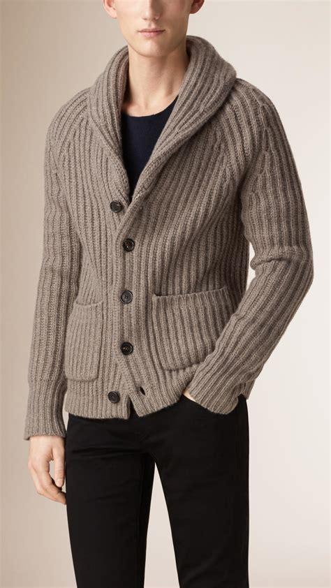 Men's Wool Shawl Collar Cardigan Sweater
