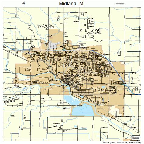 Midland MI Map