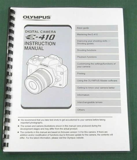 Olympus E 410 Manual