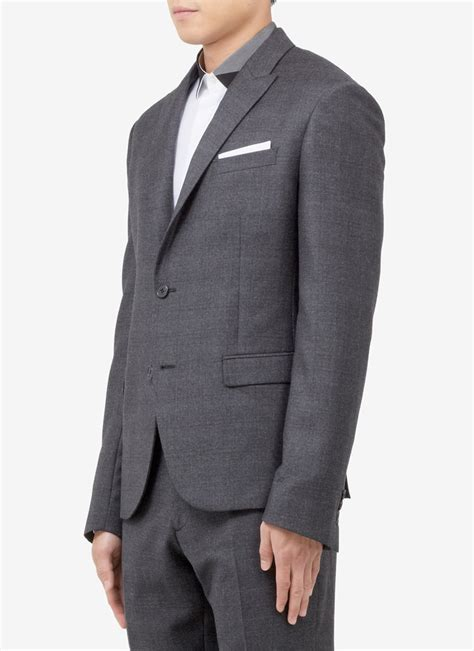 Peak Lapels 2 Button Men's Wool Suits