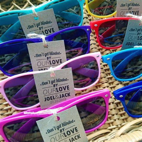 Plastic Sunglasses as Wedding Favors