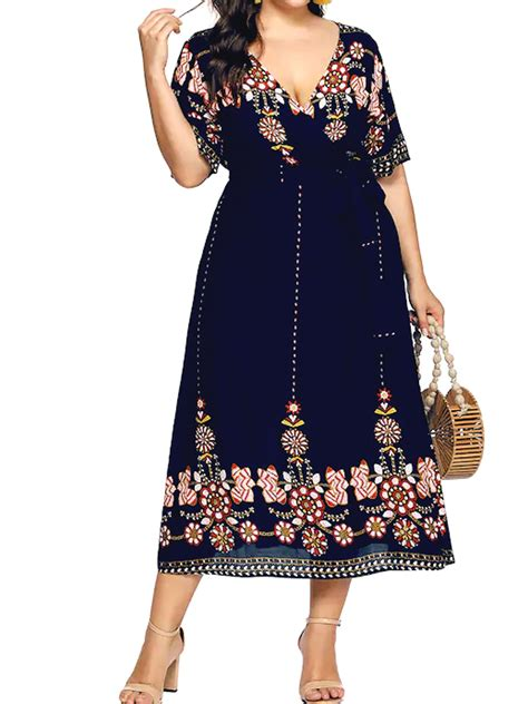 Plus Size Floral Dresses for Women