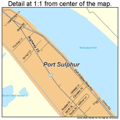 Port Sulphur Louisiana Map