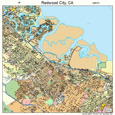 Redwood City CA Map