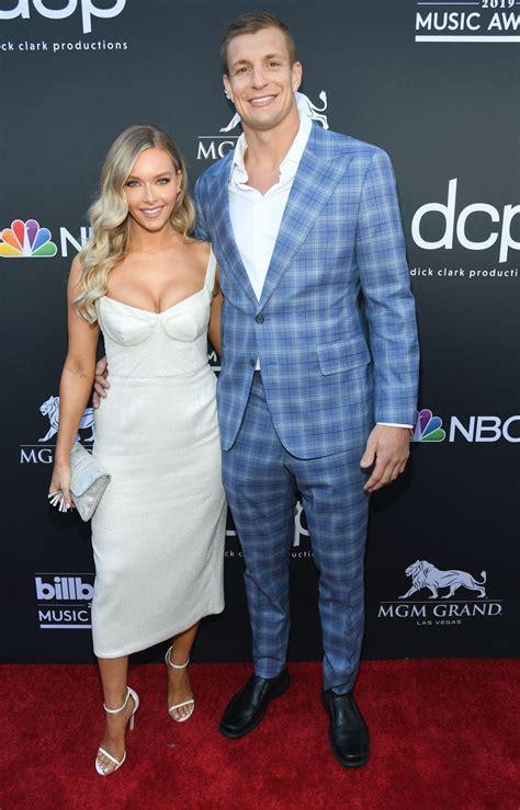 Rob Gronkowski with His Girlfriend
