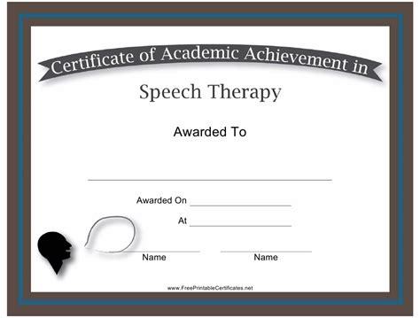 Speech Certificate