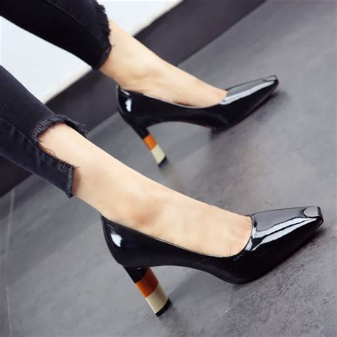 Square Toe High Heel Shoes