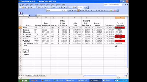 Stock Trading Excel Templates