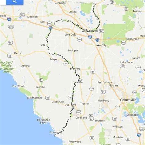 Suwannee River Florida Map