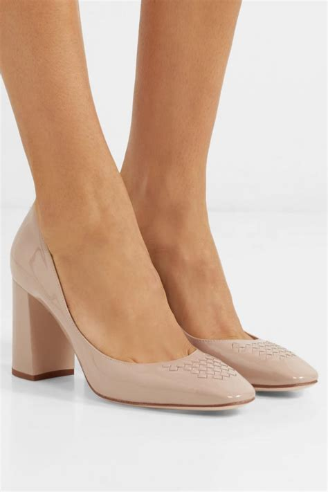 Tan Patent Leather Pumps