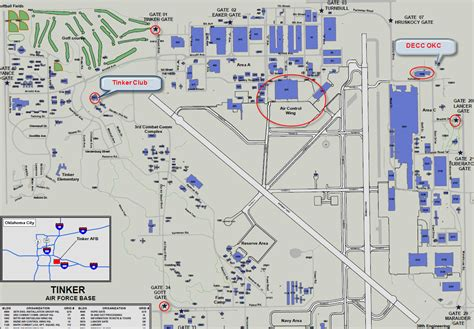 Tinker Air Force Base Map of Buildings