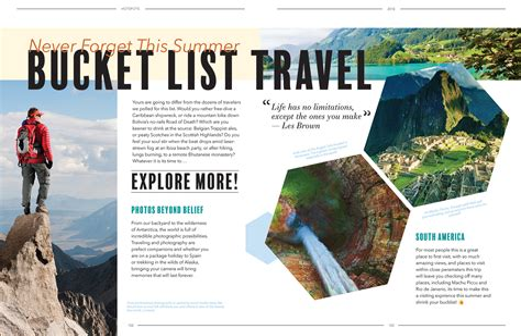 Travel Magazine Design Layouts