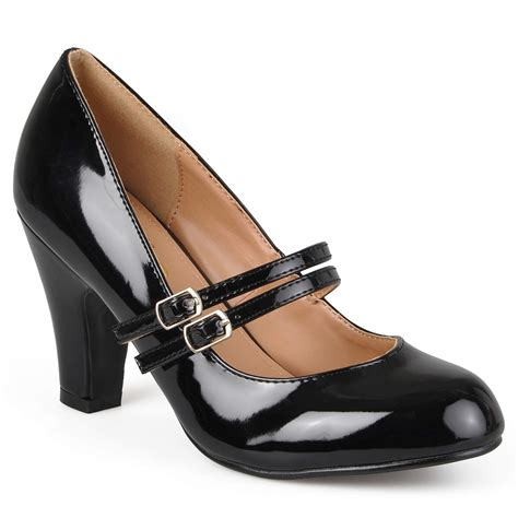 Wide Width Patent Leather Pumps