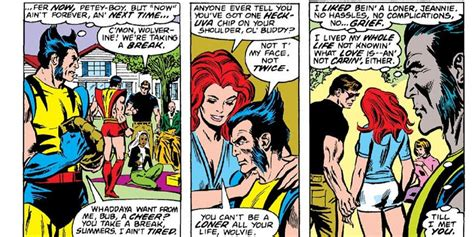 Galerry wolverine and jean grey kissing