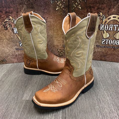 Women's Leather Boots Square Toe