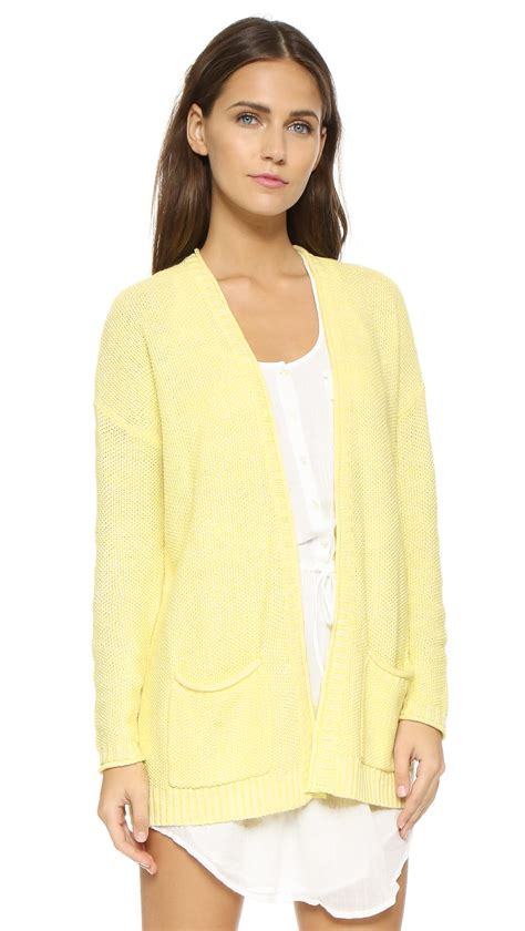 Yellow Cardigan Sweater for Women