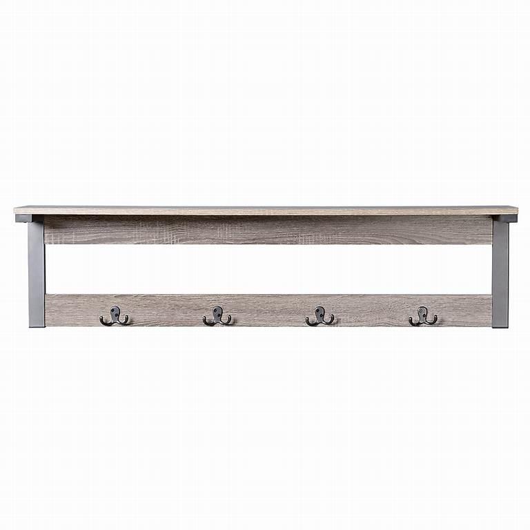 ... Shelf 4 Hook Entryway Wall Mounted Coat Rack & Reviews | Wayfair
