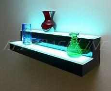 40 quot 2 step wall led lighted bar shelf home bar liquor bottle display rack 852660504349 ebay
