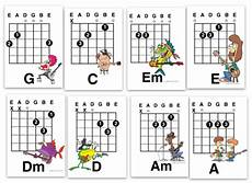 beginner songs to learn on guitar the best eight guitar chords for a kid to learn eight letter sized quot mini posters quot from my