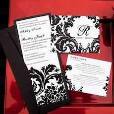 damask wedding invitations black and pearl designs damask designer wedding