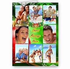 personalised photos message collage christmas a5 card