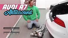 audi a7 aktiv sound auspuffanlage mit soundmodul