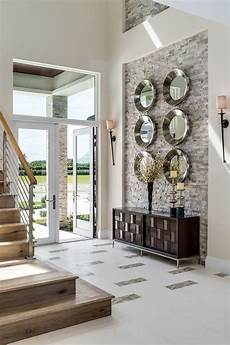 Home Entrance Wall Decor Ideas by Accent Wall Entry Transitional Home Renovations With