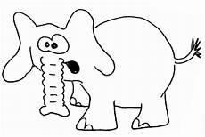 Einfache Malvorlage Elefant Elefanten Wuschels Malvorlagen