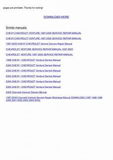 small engine repair manuals free download 2004 chevrolet trailblazer seat position control 1997 2005 chevrolet venture service repair workshop manual download 1