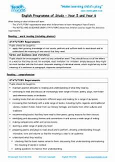 year 5 6 english national curriculum objectives teach my