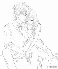 my shoulder to lean on lineart by cheztee on deviantart