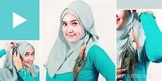 Fashion Tutorial Jilbab Segi Empat Kontemporer Praktis