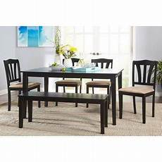 metropolitan 6 piece dining with bench black