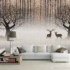 wall mural vintage nostalgic forest elk 3d tv