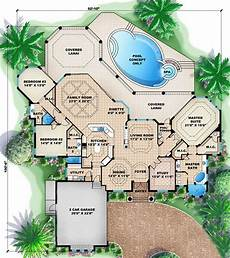 mediterranean house plans with pool house plan 1018 00066 mediterranean plan 3 287 square