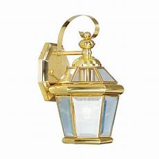 livex lighting georgetown outdoor wall lantern in polished brass 2061 02 ebay