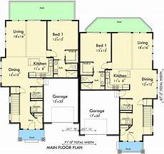 free duplex house plans plan 8188lb duplex for a down sloping lot in 2020