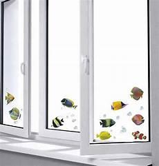 Dekorfolie Für Fenster - fenstersticker fensterfolie fische luftblasen 2 bl
