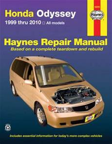 free car manuals to download 1997 honda odyssey electronic throttle control haynes honda odyssey 1999 2010 automotive repair manual
