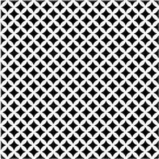 Carrelage Tagina Deco D Antan Etoile Noir Blanc Noir 10 X