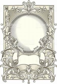 Jugendstil Malvorlagen Word Retro Decorative Design Element Vector Artwork Wappen