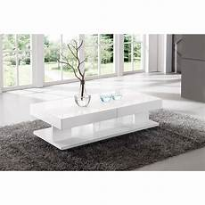 Table De Salon Avec Rangement Blanc Comforium