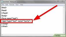 how to create a text input using html 5 steps with pictures