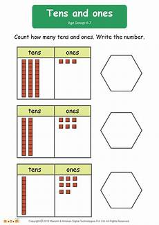tens and ones worksheet math for kids mocomi