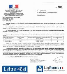 comment avoir numero de dossier permis lettre 48si invalidation du permis que faire legipermis
