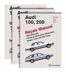 audi repair manual audi 100 200 1989 1991 bentley publishers repair manuals and