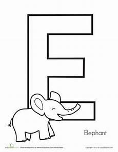 alphabet worksheets letter e 24096 children preschool and elephants on