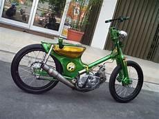 Cub Modifikasi by Honda C70 Choppy Cub Pakai Tongkat Transmisi Gilamotor