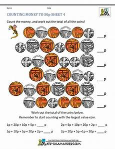 money worksheets change from 50p 2103 free money worksheets uk coins