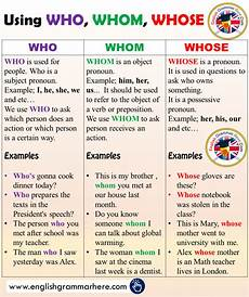 grammar worksheets who or whom 25034 using who whom whose and exle sentences in with images teaching grammar